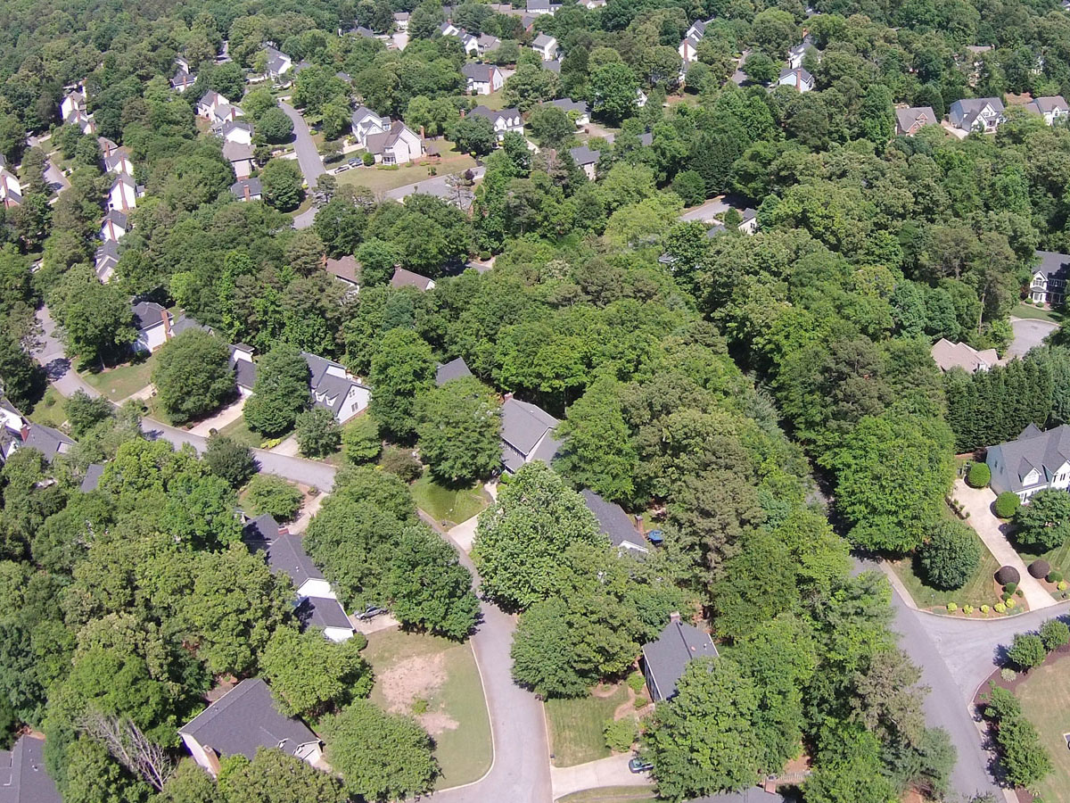 Aerial View of Pelham Falls